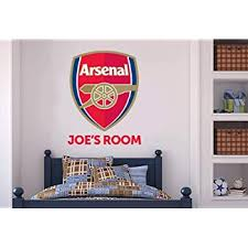 Amazon Com Official Arsenal Football Club Personalised Name Ball Wall Mural Gunners Wall Sticker Set Decal Vinyl Poster Print Mural 60cm Height Baby