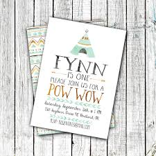 Birthday Pow Wow Invitation Birthday Party Invitations Pow Wow