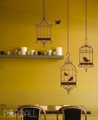 Bird Cages Wall Decal Living Room Animal Wall Decals Wall Sticker Art Wall Graphic 009 Wall Decals Living Room Kitchen Wall Stickers Animal Wall Decals
