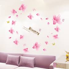 Blooming Red Lilies 3d Warm Romantic Flesh Flower Wall Stickers Living Room Home Decor Paster Mural Decal Warm Home Decor Olivia Decor Decor For Your Home And Office