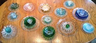 inexpensive flower plate garden art
