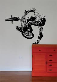 Bmx Biker Version 5 Design Sports Decal Sticker Wall Vinyl Boop Decals
