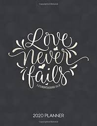 love never fails corinthians planner weekly planner