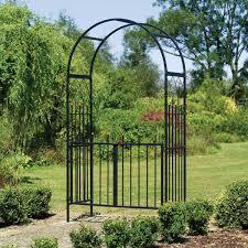 black metal garden rose arches
