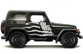 Custom Vinyl Graphics Decal Wrap Kit For 99 06 Jeep Wrangler Patriot Matte White Ebay