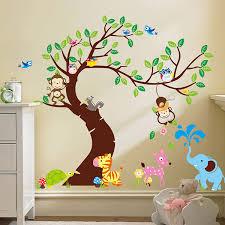 Amazon Com Baby Nursery Wall Decals Jungle Monkey Elephant Zoo Vinyl Wall Decal Sticker Baby