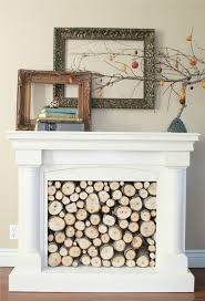 decorate a faux fireplace