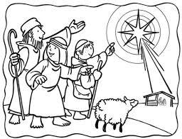Kleurplaat Herders Kerst Kerstmis