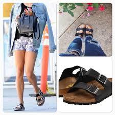 arizona oiled leather black sandals