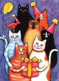 Allport Editions - Birthday Cats