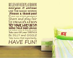 Playroom Rules Wall Sticker Kids Bedroom Vinyl Wall Quote Decals Kids Bedroom Wall Stickers Kids Removable Wall Decals From Flylife 7 04 Dhgate Com