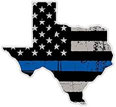 Amazon Com Customdecal Us Texas State V2 Thin Blue Line Vinyl Decal Sticker Car Truck Laptop Netbook Window Automotive