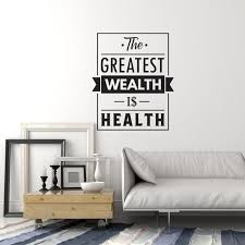 Vinyl Wall Decal Health Quote Medical Office Home Gym Inspiration Saying Stickers Mural Ig5852 Medical Office Decor Vinyl Wall Decals Business Office Decor