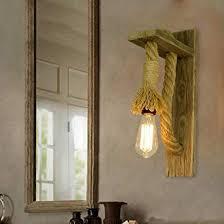 wall mount wooden vintage pendant light