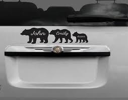 Bear Family Bear Family Decal Custom Bear Decal Family Car Etsy