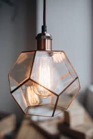 glass handmade geometric pendant lamp