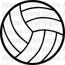 Volleyball Lettering Sign Clip Art Library