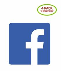 Facebook Logo Sticker Vinyl Decal 4 Pack For Sale Online Ebay