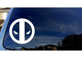 Marvel Inspired Deadpool Face Logo Car Window Vinyl Decal Sticker Mymonkeysticker Com