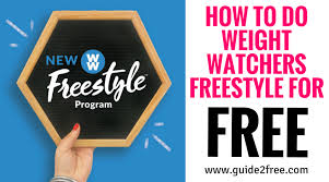 how to do weight watchers freestyle for