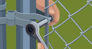 How To Hang A Chain Link Gate The Home Depot