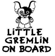 Baby On Board Little Gremlin On Board Car Window Vinyl Decal Ebay