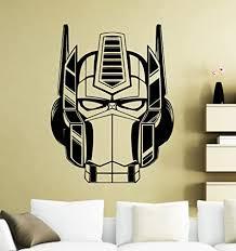 Optimus Prime Wall Decal Transformers Sticker Home Art Interior Decoration Any Room Mural Waterproof Vinyl Sticker 8mu Amazon Com