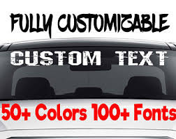 Custom Car Decals Etsy