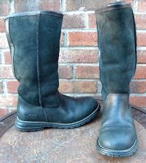 ugg boots brooks sheepskin lined black