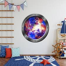Vwaq Galaxy Spaceship View Porthole Window Peel And Stick Vinyl Decal