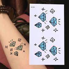 Nowy 10 5x6cm Wodoodporna Tymczasowa Tatuaz Diament Gwiazdy Tatuaz