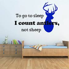 Nursery Room Quotes Wall Stickers To Go To Sleep I Count Antlers Not Sheep Lettering Wall Decals Children Room Wall Decor606q 2 Wall Sticker Quote Wall Stickerwall Decals Aliexpress