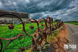 Wagon Wheel Fence In A Field Palouse Washington State Usa Stock Photo Picture And Rights Managed Image Pic Ssb 4097 2711 Agefotostock