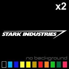 2x Stark Industries Sticker Vinyl Decal Marvel Iron Man Avengers Car Window Ebay