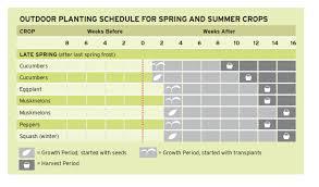 planting chart cheat sheets square
