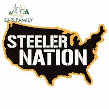 Earlfamily 13cm X 9 5cm For Steeler Nation Creative Car Stickers Vinyl Car Wrap Decal Motorcycle Helmet Decoration Car Stickers Aliexpress