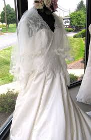 wedding dress on display at bridals by