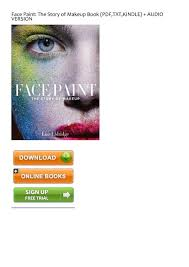 upbeat face paint the story of makeup