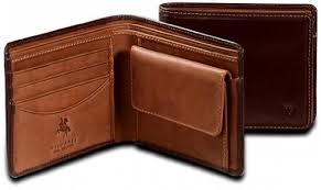 bifold wallet with coin purse made