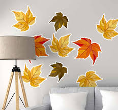 Nature Leaves Autumn Nature Wall Sticker Tenstickers