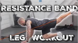 resistance band leg toning exercises