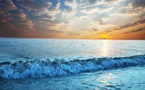 تحميل خلفيات غروب الشمس البحر المناظر الطبيعية موجات الهدوء