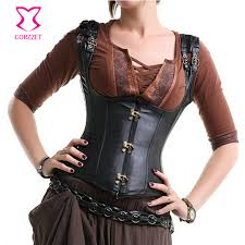 corzzet gothic steampunk faux leather