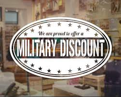 Military Discount Sticker Veteran Decal Store Business Sign Window Store Decals