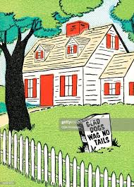 House With Picket Fence And Dog Sign High Res Vector Graphic Getty Images