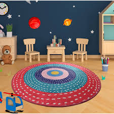 Zoomie Kids Wyant Shag Red Blue Pink Rug Wayfair