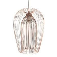 jonas copper wire light shade d 22cm