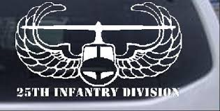 25th Infantry Division Car Or Truck Window Decal Sticker Rad Dezigns