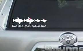 Shark Family Decal Car Decal Baby Shark Mommy Shark Etsy