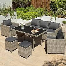 jakarta 6 piece sofa dining set